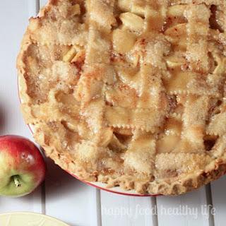 Homemade Caramel Apple Pie.