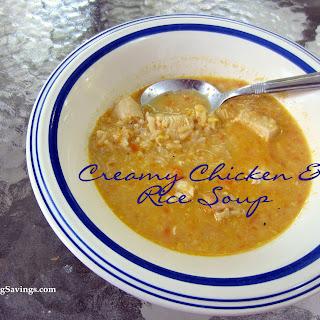 Creamy Chicken & Rice Soup Recipe!