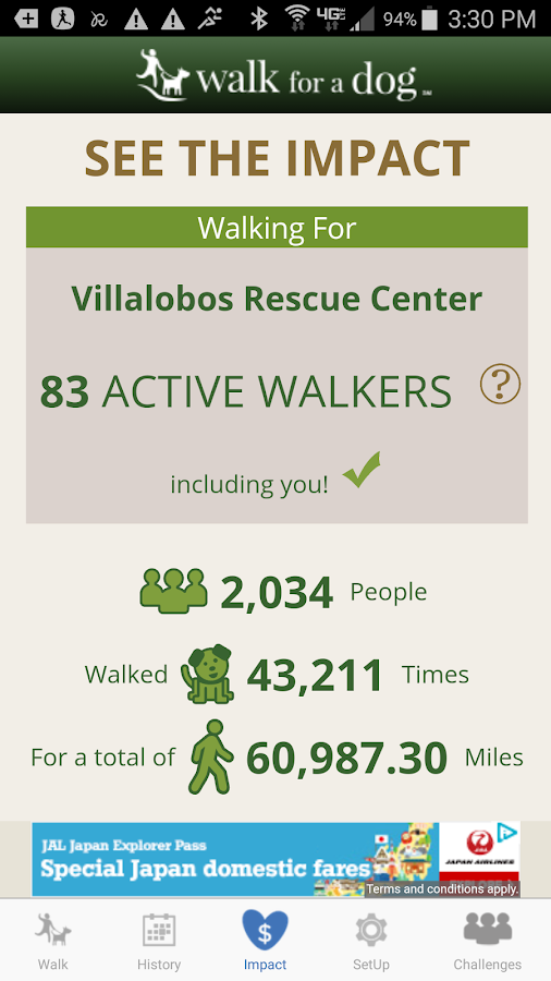 Walk for a Dog: Walking for Animal Shelter Support- screenshot