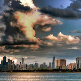 Monsters in the Sky by John Harrison - Landscapes Cloud Formations ( clouds, chicago, nikon, jnhphoto )