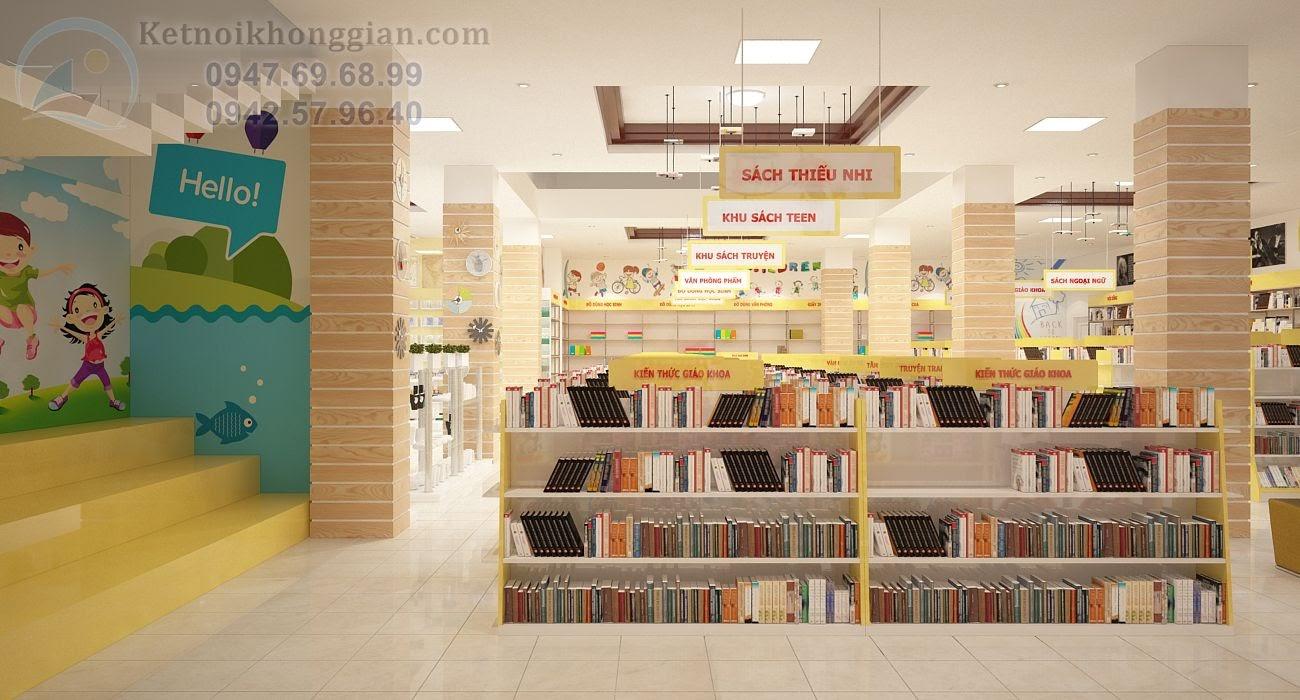 thiết kế nhà sách tại Vĩnh Yên