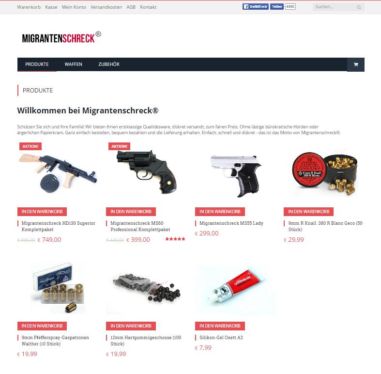 Migrantenschreck Online Shop