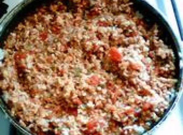 Meaty Spanish Rice Recipe