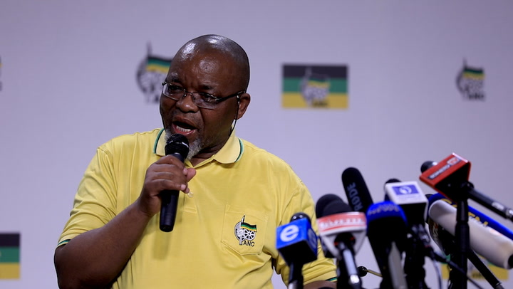 ANC secretary-general Gwede Mantashe addressed the media to provide feedback on the ANC's special NEC meeting at the party's headquarters on Tuesday.