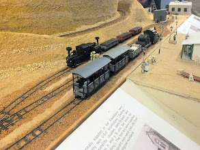 Photo: 114 The locos and stock found at Khan are as distinctive and unusual as the arid mountainous desert landscape .