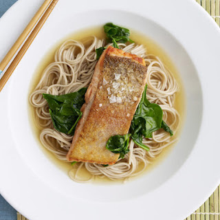 Salmon with Miso Soba Noodles.