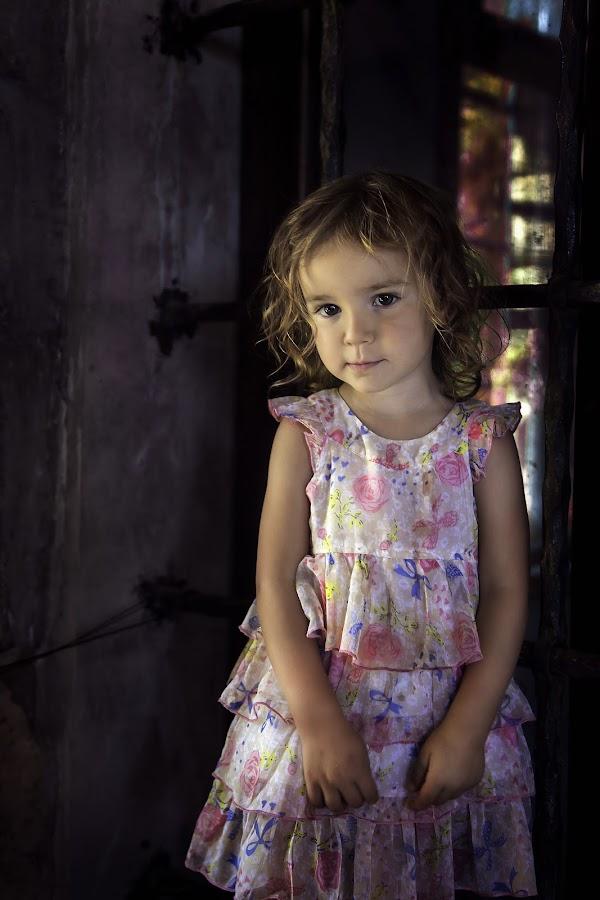 In the Castle by Lazarina Karaivanova - Babies & Children Child Portraits ( girl castle )