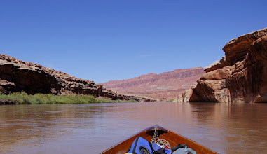 Photo: Approaching Red House Cliffs and the Clay Hills take out.