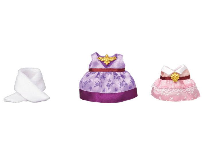 Contenido Real de Sylvanian Families 6020 Set Vestido (Violeta y Rosa)