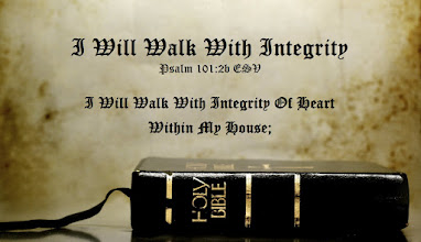 Photo: HAPPY FATHER'S DAY!  I Will Walk With Integrity Psalm 101.2b ESV  I Will Walk With Integrity Of Heart Within My House;   Image: Holy Bible  I Will Walk with Integrity Psalm 101 ESV; http://www.biblegateway.com/passage/?search=Psalm+101&version=ESV  AUDIO: Psalm 101 ESV; http://www.biblegateway.com/audio/mclean/esv/Ps.101