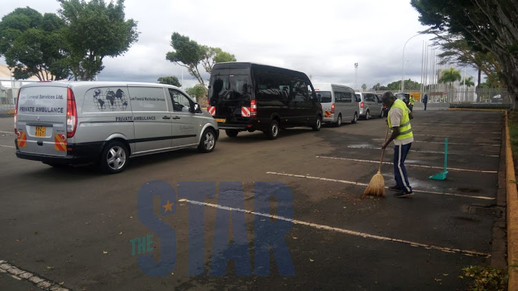 Remains of the Ethiopian Airlines crash victims arrive at JKIA on Monday, October 14, 2019.