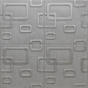 Set 5 x Tapet gri modern, autoadeziv, 70 x 70 cm, spuma moale 3D