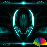 Alien Teal Xperien Theme Icon