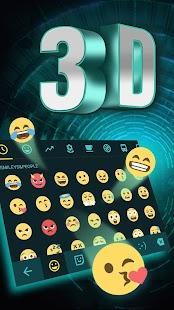 [Download 3D Neon Hologram Black Keyboard Theme for PC] Screenshot 3