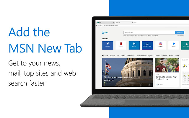 MSN New Tab - Chrome Web Store