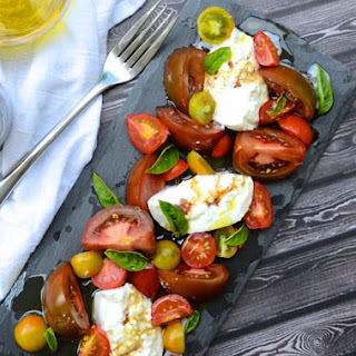 Simple Tomato & Burrata Salad