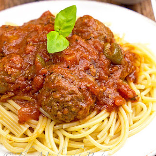 Slow Cooker Chunky Meat Lover's Spaghetti Sauce.