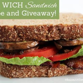 Whole Wheat BLT, Mushroom, & Avocado Sandwich.