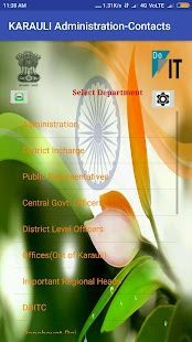 KARAULI ADMINISTRATION CONTACTS- screenshot thumbnail