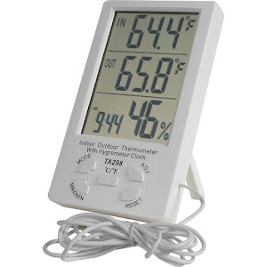 Termometru cu ceas si senzor umiditate pentru interior si exterior