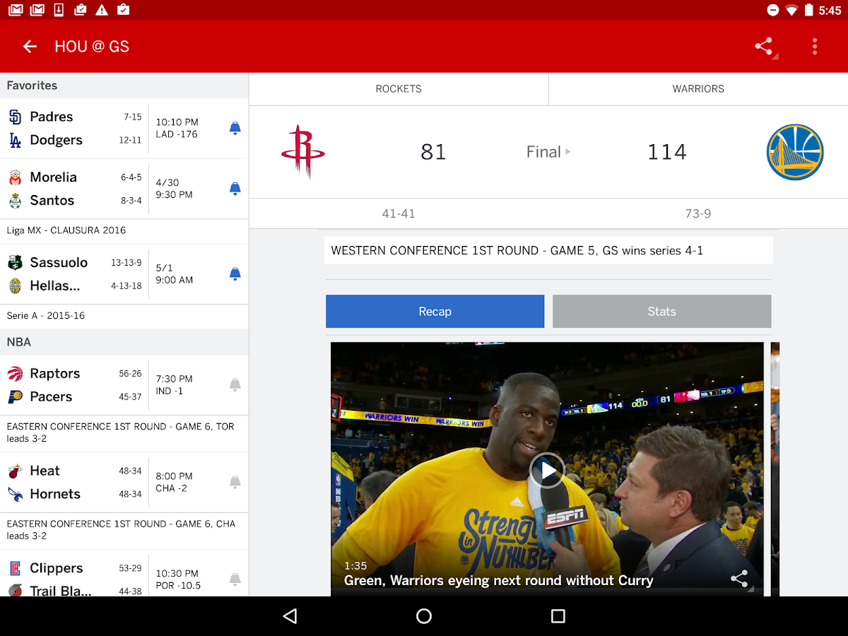 ESPN- screenshot