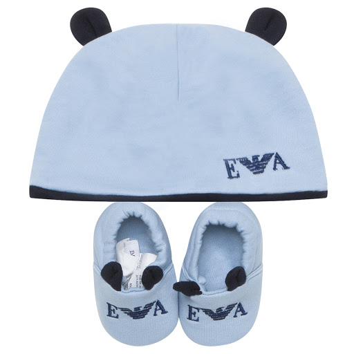 Primary image of Emporio Armani Hat & Booties Set