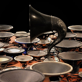 Sound Check by Byran Forbes - Artistic Objects Technology Objects ( art, scad, speakers, savannah )