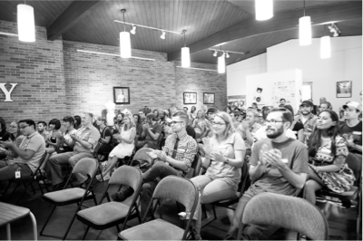 Audience at a local Pattern meetup