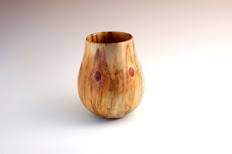 "Photo: Clif Poodry -- Norfolk Island Pine Vase -- 6.5"" X 5.5"" -- $200"