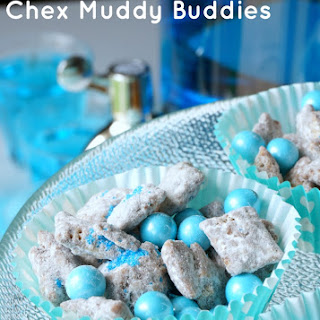 Chex Muddy Buddies Recipe for Baby Showers (Pink and Blue!)