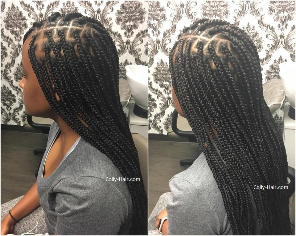 box braids styles pictures