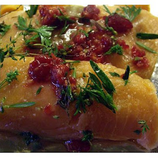 Baked Cod On Bed Of Peppers.