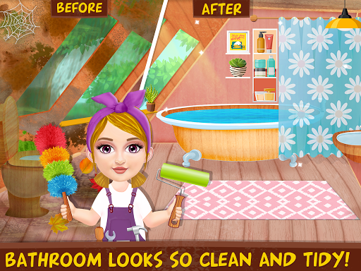 Messy House Cleanup Girls Home Cleaning Activities android2mod screenshots 6