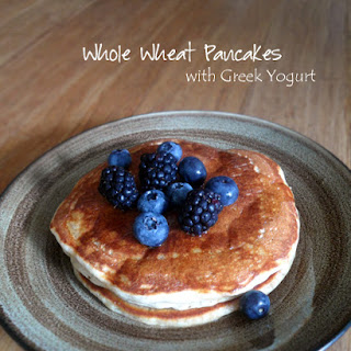Whole Wheat Pancakes with Greek Yogurt