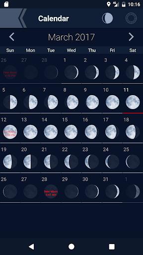 The Moon - Phases Calendar screenshot 2