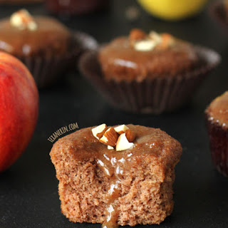 Grain-free, Gluten-free and Dairy-free Spiced Applesauce Cupcakes.