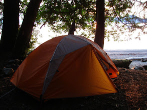 Photo: My campsite on the beach at Point Higgins.