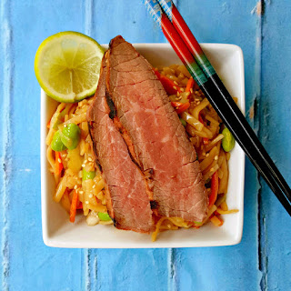 Grilled Teriyaki Steak and Noodle Salad