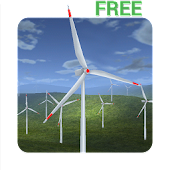 Wind Turbines 3D Live Wallpaper Free