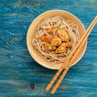Funky Chicken With Sesame Noodles.