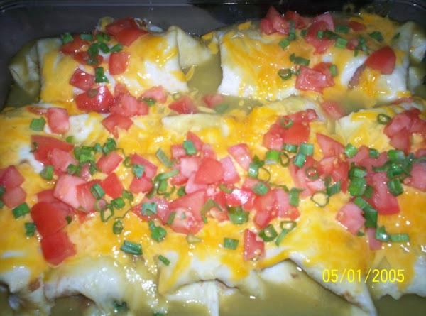 Green Chile Wet Burritos Recipe