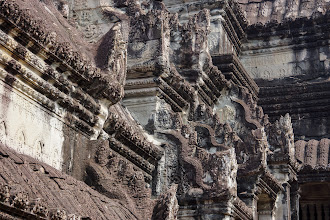 Photo: I was, however, impressed by the exquisite architectural carvings, although you had to imagine how they looked when the temple was intact.