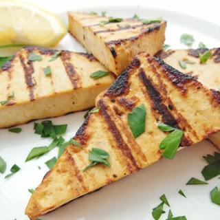 Lemon Soy Grilled Tofu