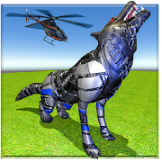 Helicopter Robot Transform Futuristic Robot Wolf