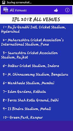 IPL 2018 Schedule 1.5 screenshots 7