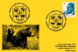 Photo: Matasellos del Año de la Biodiversidad del Centro Asturiano