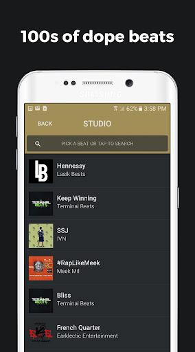 Rapchat: Social Rap Maker, Recording Studio, Beats screenshot 1