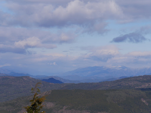右に御前山、左に川上山