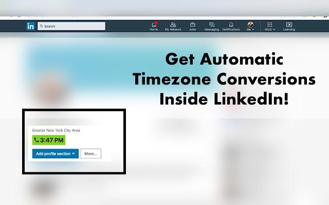 Builtin LinkedIn Timezone Converter- SalesPal