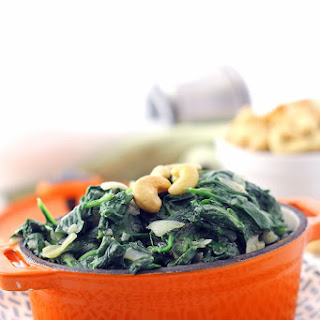 Cashew Creamed Spinach